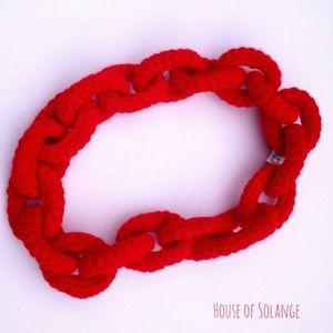 Jewelry - Handmade Red Soft Chain Necklace
